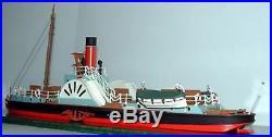 105ft Paddle Steamer waterline OO Scale 176 UNPAINTED Kit MB20 Langley Models