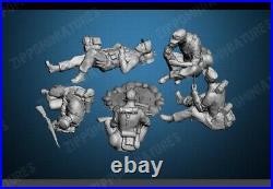 1/16 Big Set 5pcs Resin Figure Model Kit German Soldiers Wehrmacht WWII Unpainte