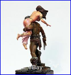 1/24 Conan And Sexy Girl Figures Model resin Kit unpainted Assembly Hobby Toys