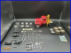 1/24 Resin Ford LTL 9000 4 Axle Crane Truck Built Junkyard