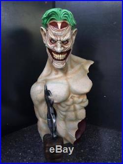 1/2 Joker Bust Model Figure Unpainted Unassembled Good Resin Kit 42cm Tall