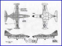 1/32 Fisher Model #3201 US Navy F9F-5 Panther jet fighter resin kit