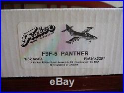 1/32 Paul Fisher Model US Navy F9F-5 Panther jet fighter resin kit 3201 NIB
