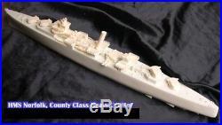 1/350 4209 HMS Norfolk County class heavy cruiser Resin Model Kit