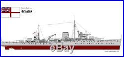 1/350 4230 HMS Ajax 1941- Leander class Light Cruiser Resin Model Kit