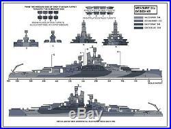 1/350 USS Nevada BB36 December 1944 Complete Resin & PE Brass Model Kit