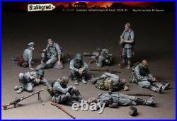 1/35 Stalingrad S-3030 German Infantrymen At Rest (10 Figures) Resin Model Kit