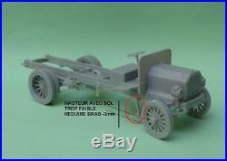 1/35 scale WW1 Peerles GS truck resin kit detailed PE parts military model/deca