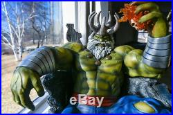 1/4 Hulk on Throne Statue Resin Model Kits GK Collections Figure Gifts Pre-order