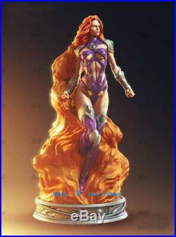 1/6 32.5 Starfire Resin Model Kits Unpainted 3D Printing Sexy Girl Hero Statue