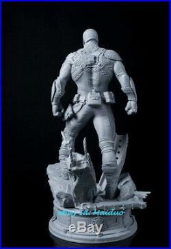 1/6 Captain America Unpainted Resin Kits Model GK Statue 3D Print 35cm