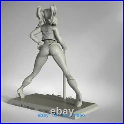 1/6 Female Joker Harley Quinn Resin Model Kits Unpainted 3D Printing Garage Kit