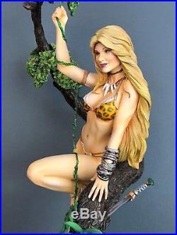 1/6 Piranha Model Resin Kit Girl in Jungle In Tree with Animal Skin Bikini