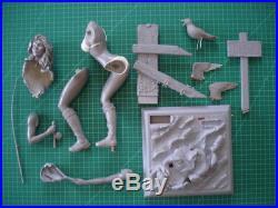 1/6 Resin Model Kit called No Fishing Girl in Bikini Fishing at Beach on Rocks