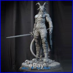 1/6 Scale Baphomet Demon Resin Model Kits Unpainted 3D Printing Garage Kit H37cm