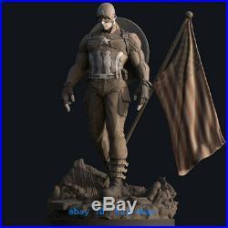 1/6 Scale Captain America Resin Model Kits Unpainted 3D Printing Garage Kit