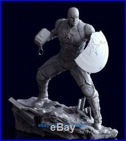 1/6 Scale Captain America Statue Resin Model Kits Unpainted 3D Printing 4 Heads