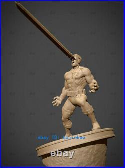 1/6 Scale Cyclops Statue Resin Model Kits Unpainted 3D Printing Garage Kit