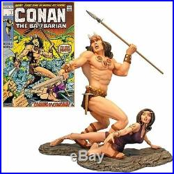 1/8 CONAN THE BARBARIAN RESIN MODEL KIT by MOEBIUS new in box sealed the cello