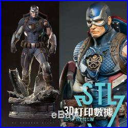 1/8 Captain America Unpainted Resin Kits Model GK Statue 3D Print 25cm 1/8 scale