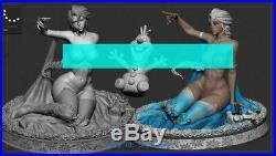 1/8 Scale Queen Elsa Resin Model Kits Unpainted 3D Printing Garage Kit