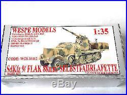 35112 135 Sd. Kfz. 9/ Flak 88mm/ Selbstfahrlafette resin kit Wespe Models