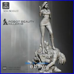 40cm Dragon Ball Android 18 Resin Model Kits Unpainted 3D Printing Anime