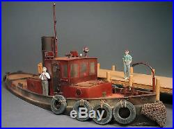 45' STEAM RAILROAD TUG BOAT O On30 Waterline Hull Model Unptd Resin Kit FR136