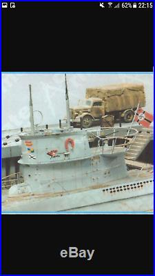 ACCURATE ARMOUR U BOAT and QUAYSIDE COMBO KITS 2METERS long(6ft) Resin 1/35