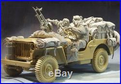 AC Models WW2 LRDG Conversion set 2 figures + stowage 75mm Unpainted resin kit