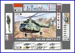 AWC Models 1/48 MIL Mi-8MTV/17 HIP Russian Transport Helicopter Resin Model