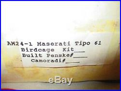 Aardvark Models Am24-1 Maserati Tipo 61 Birdcage Resin Metal Photo Etched 124