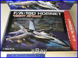 Academy 1/32 F/A-18D Hornet Night Attack USMC Navy F-18 model with RESIN & DECALS