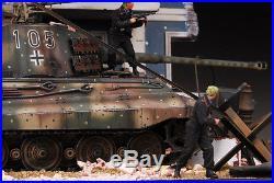 Award Winner Built Dragon 1/35 Kingtiger Ardennes Diorama +Figure+PE/Resin