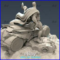 Batman Batmobile Unpainted Resin Kits Model GK Statue 3D Print 30cm New