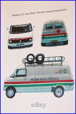 Bedford Cf, Dtv, Rally Support Van, White Metal & Resin Kit, 1/43 Scale