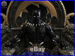 Black Panther On Throne 1/6 Figure Statue Resin Model Kits Unpainted 3D Printing