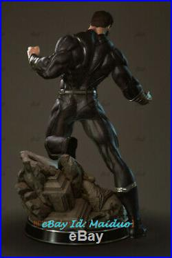 Black Superman Unpainted Resin Kits Model GK Figurine Statue 3D Print 30cm