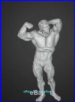 Bodybuilder Schwarzenegger Unpainted Resin Kits Model GK Figurine 3D Print 30cm