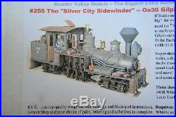 Boulder Valley Models #255 On30 Gilpin style Shay kit. Long OOP