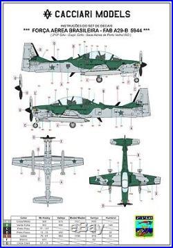 Cacciari Models A29B Super Tucano Embraer EMB314 Resin Kit 132