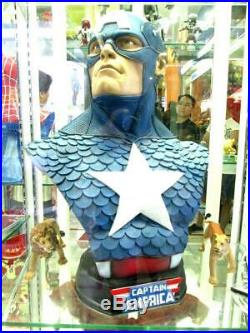 Captain America Bust Hobby Model Resin Cast Kit Unpainted Unessembly version