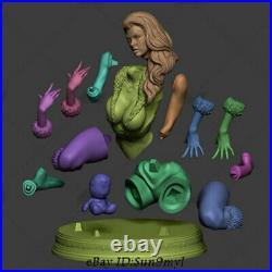 Cat Woman Unpainted Resin Kits Model GK Statue 3D Print 20cm 1/6 New