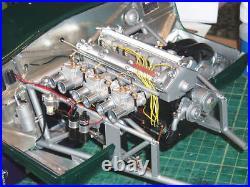 Complete resin engine kit for 1/8 scale Revell or DeAgosti E Type Jaguar car kit