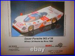 DAUER PORSCHE 962 #36 1994 WINNER PHOTO ETCH & RESIN 124 Le MANS MINIATURES