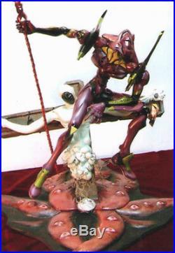 EVA-01 with Longinus & Lilith Evangelion Unpainted Statue Figure Model Resin Kit