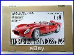 FERRARI 250 TESTA ROSSA 1957 18 Wespe Models Sportwagen Resin Modell kit SBS31