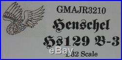 GMAJR3210 HENSCHEL Hs129 B3 TANK BUSTER 1//32 SCALE RESIN MODEL KIT WWII AIRCRAFT