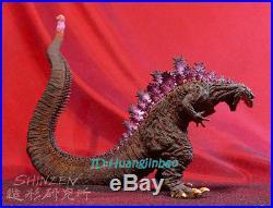 Godzilla Unpainted Resin Model Kits Unassembled LED Light Statue Garage Kit 6''H