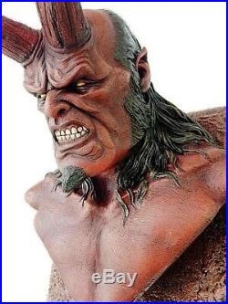 Hellboy Bust Wall Hanging Model Figure Unpainted Unassembled Resin Kit 30cm Tall